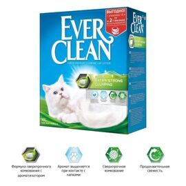 Ever Clean Extra Strong Clumping Scented - комкующийся наполнитель с ароматизатором 10л