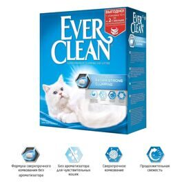 Ever Clean Extra Strong Clumping Unscented - комкующийся наполнитель без ароматизатора 10л